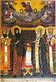 Cyril, Methodius, Clemens and Theophilact 1864 Icon Simeon Molerov Zograf Monastery.jpg