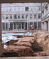 Düsseldorf, Landgericht, Ausgrabungen im Hof, 2012.jpg