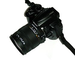 Nikon D5000 with 18-50mm lens