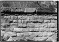 DATE STONE ON EAST FACE OF VIADUCT. - Valley Railroad, Folly Mills Creek Viaduct, Interstate 81, Staunton, Staunton, VA HAER VA,8-STAU.V,2-6.tif