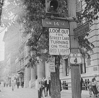 Pennsylvania Avenue - A 1942 photo of a DC 4 shield.