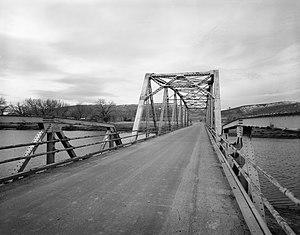 DUX Bessemer Bend Bridge - The bridge in 1982