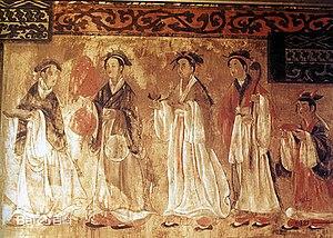 Emperor Ling of Han - Image: Dahuting mural, Eastern Han Dynasty