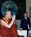 Dalai Lama with Lodi Gyari on 27 April 1993 detail, The Dalai Lama, Lodi Gyari, Al Gore and Bill Clinton in the Office of the Vice President, Washington, April 1993 (cropped).jpg