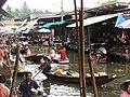 Damneon Saduak-Floating market - Plovoucí trh Damneon Saduak - panoramio - Thajsko.jpg