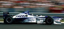 Photo de Damon Hill dans l'Arrows A18 en Hongrie en 1997