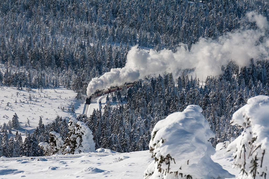 Dampfzug zum Brocken im Winter