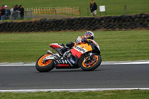 Dani Pedrosa - Pedrosa on board the Repsol Honda RC211V at the 2006 Australian Grand Prix
