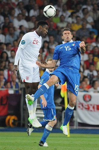 Danny Welbeck - Welbeck (left) playing for England at UEFA Euro 2012