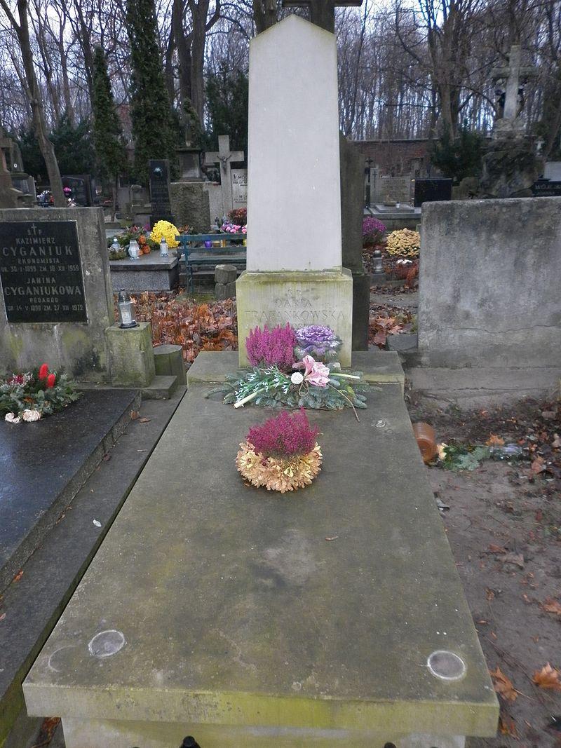 grób sławnej aktorki