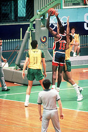 David Robinson at 1988 Summer Olympics vs. Brazil 2.jpg