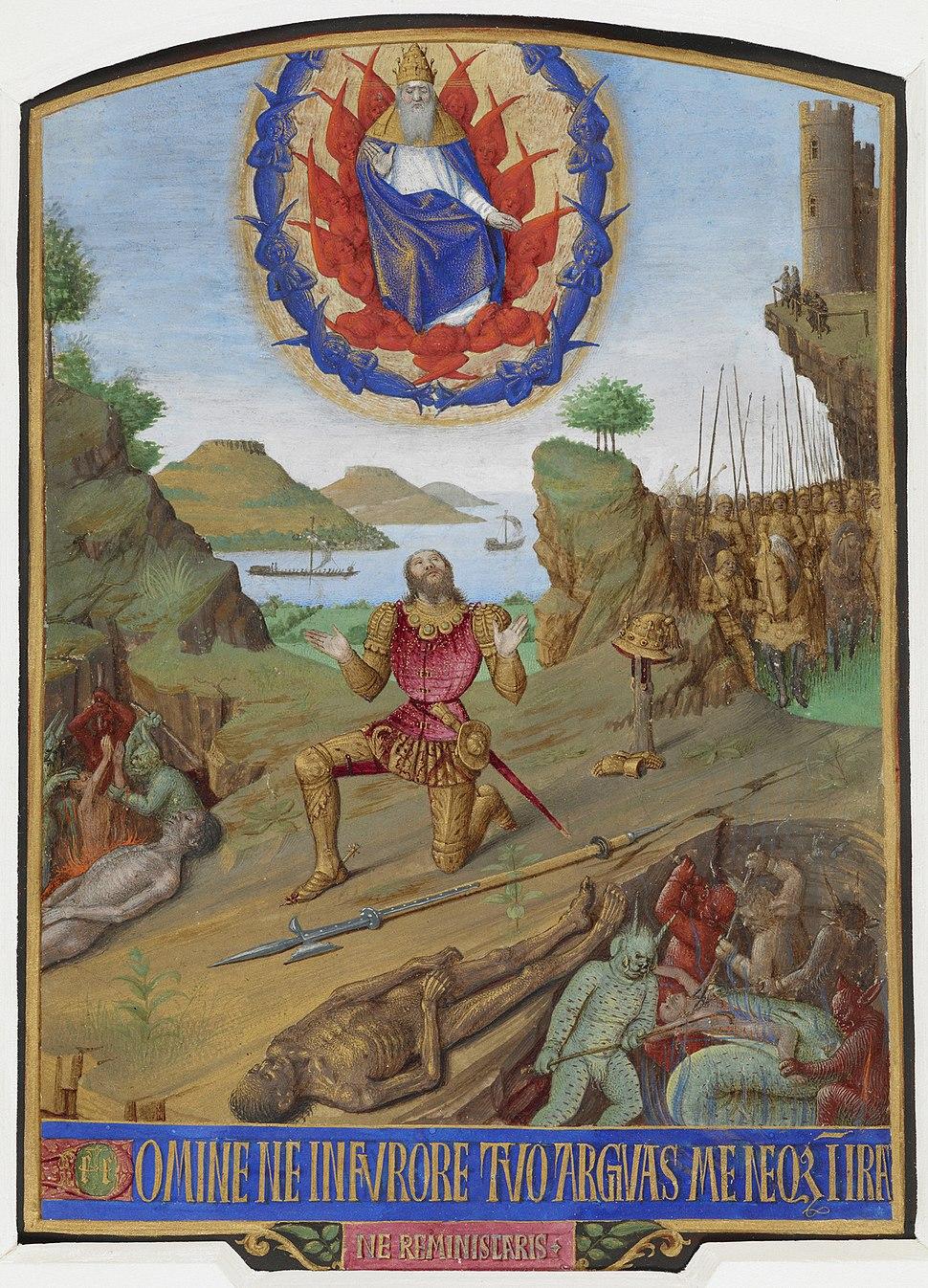 David kneeling in penitence - Hours of Etienne Chevalier (c.1452-1460) - BL Add MS 37421