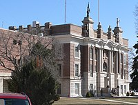 Dawson County, Nebraska courthouse from NW 2