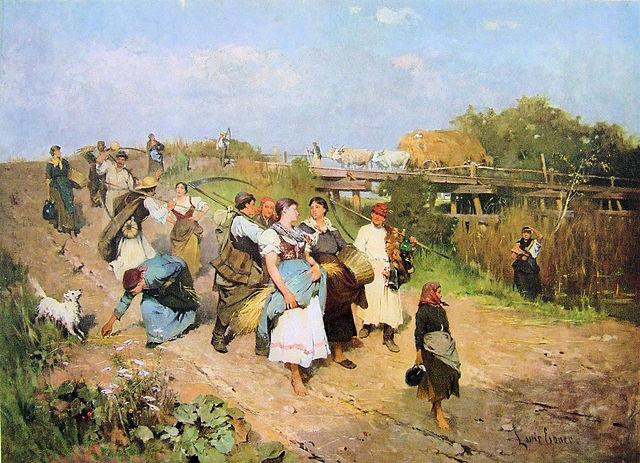 """""""Retour de la moisson"""" de Lajos Deák-Ébner (1850–1934)"""