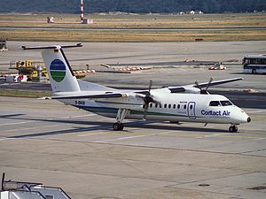 Contact Air - A Contact Air Dash 8-300 at Frankfurt Airport in 1994.