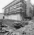 De achtergevel van de synagoge te Arnhem in de steigers, tijdens restauratie - Arnhem - 20350258 - RCE.jpg