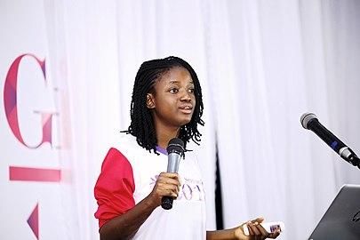 Deborah Olumayowa delivers a presentation.jpg