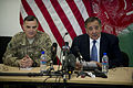 Defense.gov News Photo 120315-D-TT977-103 - Secretary of Defense Leon E. Panetta conducts a press conference with Commander of International Security Assistance Force Lt. Gen. Curtis.jpg