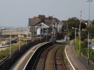 Deganwy - Image: Deganwy Station Northbound looking towards Llandudno