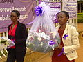 Delegates Arrive with Genocide Commemoration Bouquets - Catholic Church Memorial - Nyamata - Rwanda.jpg
