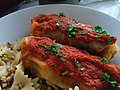 Delicious Cabbage rolls and pasta (15285143386).jpg