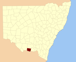 Denison County - Location in New South Wales