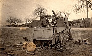 Armoured Autocar - An Autocar destroyed on the Western Front