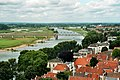 Deventer, view from tower of the Lebuïnuskerk to the Spoorbrug.jpg