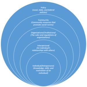 Community-based program design - A diagram of the social-ecological model