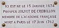 Dijon plaque commémorative Prosper JOLYOT de CREBILLON.jpg