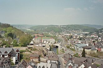 Dillenburg - View of town looking north from Wilhelmsturm