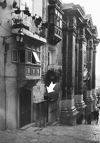 Manwel Dimech - The place where Manuel Dimech was born on 25 December 1860 in St. John's Street, Valletta, Malta.
