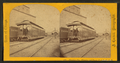 Directors car, elevator and depot. C. & N.W.R.R. (Chicago and North Western Railroad depot), by Carbutt, John, 1832-1905.png