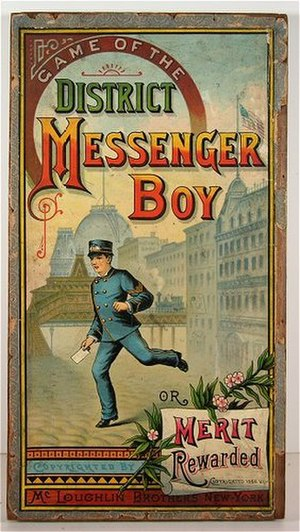 The Mansion of Happiness - Unlike The Mansion of Happiness, Game of the District Messenger Boy (1886) focuses on daily life rather than eternal life.