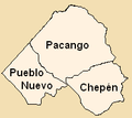 Districts of the Chepen province in La Libertad.png