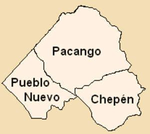Chepén Province - Map of the Chepén province showing its districts