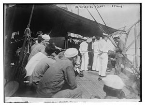 USS Dixie (1893) - Picking up refugees from the Mexican Revolution circa 1915