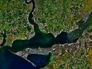 Dnieper-Bug Estuary - Satellite view of the Dnieper-Bug Estuary