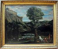 Domenichino, paesaggio con ercole che combatte acheloo trasformato in toro, 1621-22 ca..JPG