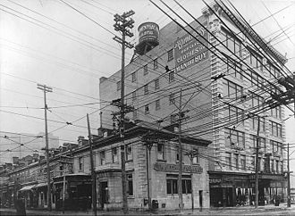 The Dominion Bank - Dominion Bank branch in Montreal, circa 1915.