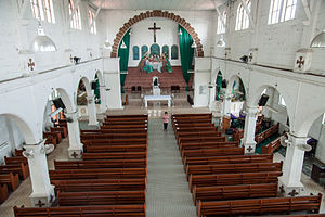 St. Michael's Church, Penampang - The interior of the church.
