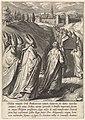 Doodskist van Thomas van Aquino wordt naar de Dominicaanse kerk van Toulouse gebracht Het leven van de heilige Thomas van Aquino (serietitel), RP-P-1878-A-1869X.jpg