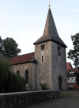 church in the village Veltheim (Ohe), Lower Saxony, Germany