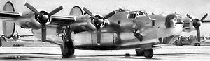 449th Air Expeditionary Group - 717th Bomb Squadron B-24J 42-51327 at Bruning AAF just after delivery from Douglas-Tulsa where it was manufactured.