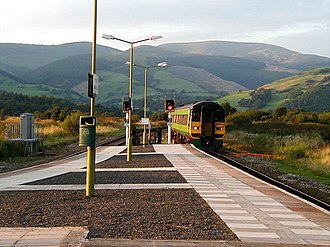 Dovey Junction railway station - Dovey Junction with Aberystwyth-bound train approaching