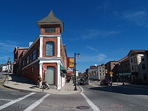 Woonsocket, Rhode Island - Downtown Woonsocket