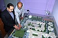 Dr. Jitendra Singh inspecting the model and plan of the proposed hostel for Northeast students in the campus of Ramanujan College.jpg