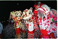 Dragon dancers prepare for New Year Parade in San Francisco, 2004.jpg