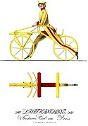Invented First Bicycle 1817