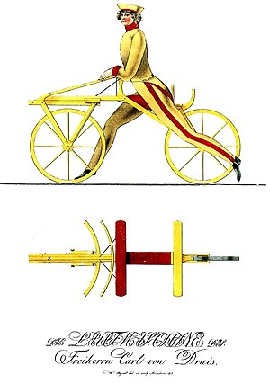 History of the bicycle - Drais' 1817 design made to measure